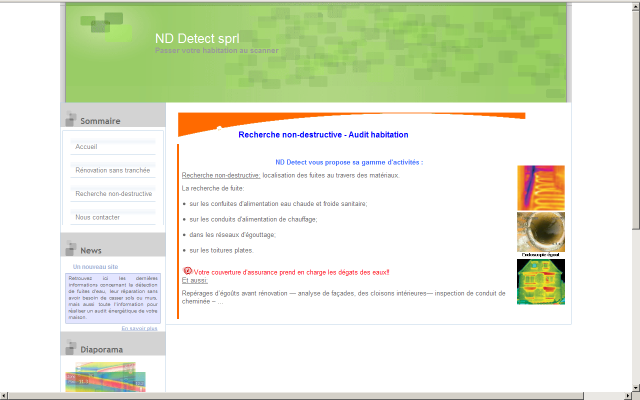 Le site de ND Detect sprl